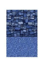 toile de piscine overlap blue slate